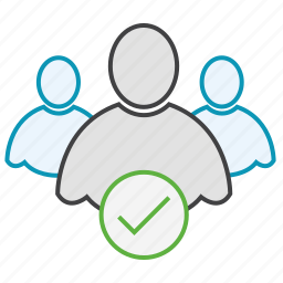check, friends, group, network, users icon