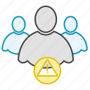 alert, friends, group, network, users icon