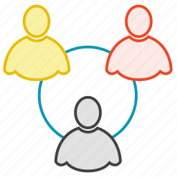 friends, group, network, users icon
