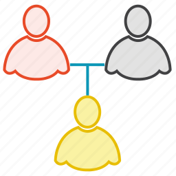 friends, group, network, share, users icon