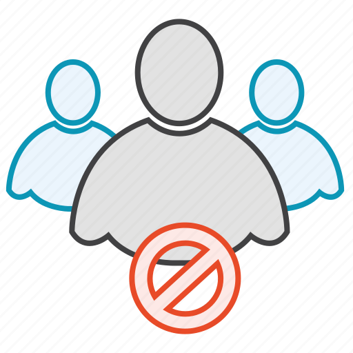 block, friends, group, network, users icon