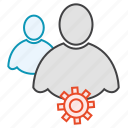 friends, group, network, setting, users icon