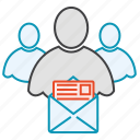 email, friends, group, message, network, users icon