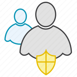 friends, group, network, protection, shield, users icon