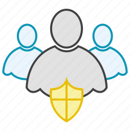 friends, group, network, shield, users icon