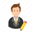 account, avatar, business, businessman, edit, profile, user icon