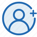 add, user, avatar, business, graph, human, woman