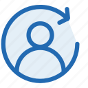 direction, forward, man, people, refresh, right, user icon