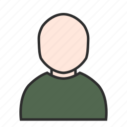 account, avatar, human, male, plain, profile, user icon