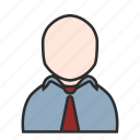 business, job, male, office, shirt, user, work icon