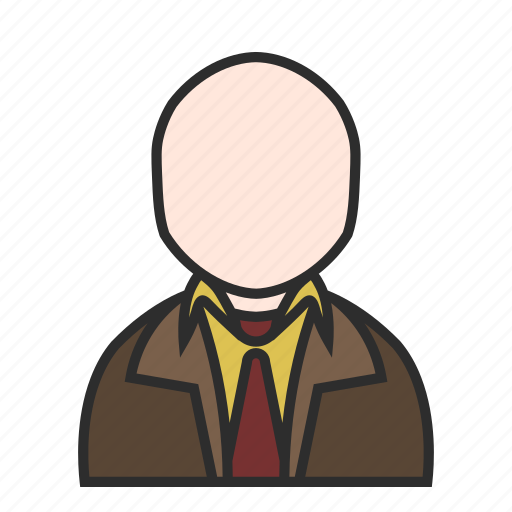 boss, brown, human, old, suit, user, users icon