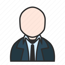 blue, business, modern, profile, suit, tie, user icon