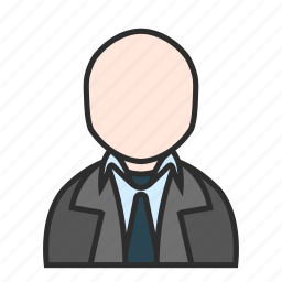 business, gray, office, shirt, suit, tie, user icon