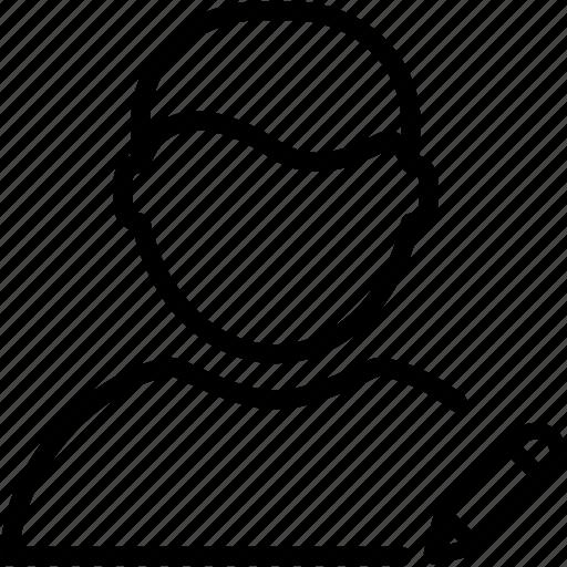 account, avatar, edit, man, person, profile, user icon