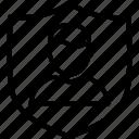 shield, user, account, avatar, man, person, profile