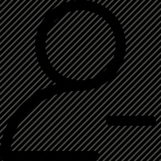 remove friend, remove profile, remove user, unfollow, unfriend icon