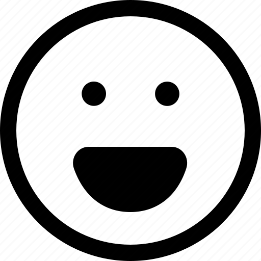 face, happy, laughter, satisfaction, satisfied, smile icon