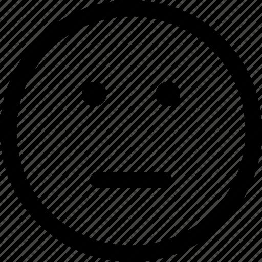 face, fine, kinda sad, neutral, normal icon