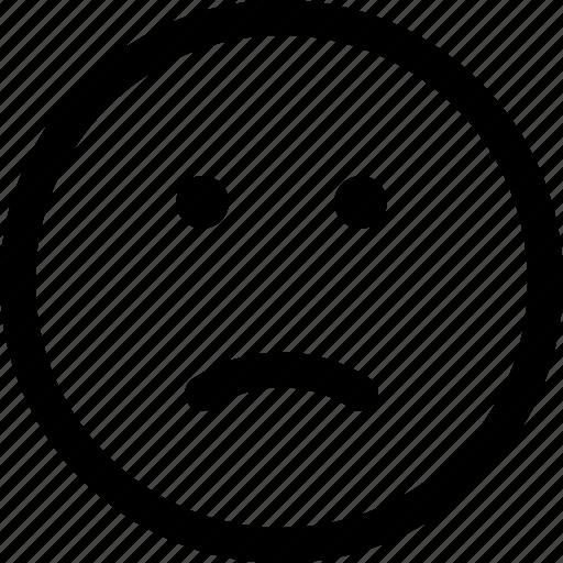 bad, face, sad, unhappy, unsatisfied icon