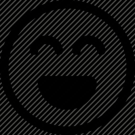 elated, emoji, feelings, happy, joyous, smiling emoji, thrilled icon