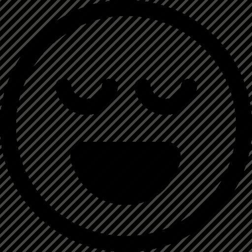 elated, emoji, emotions, face, feelings, happy, joyous, smiling emoji icon