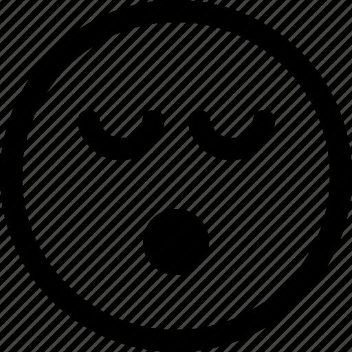 dream, emoji, face, nap, rest, sleep, snore icon