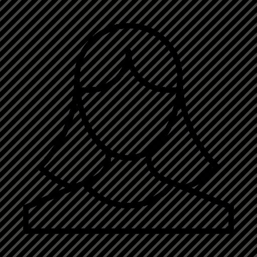account, avatar, girl, person, profile, user, woman icon