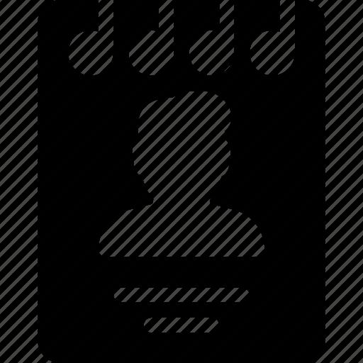 booklet, male, person, profile, user icon