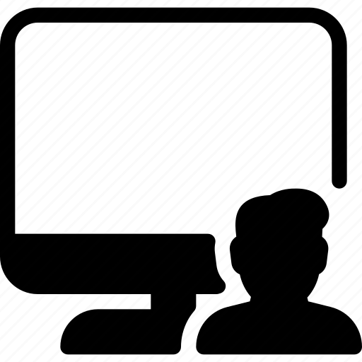 computer, male, man, profile, user icon