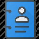book, id, identity, person, tag