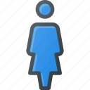 female, peson, user icon