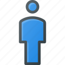 male, person, user icon