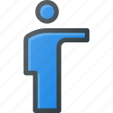 person, man, user, pointing, show icon