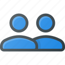 duble, partner, share, users icon