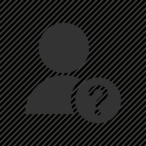 account, avatar, help, profile, question, user icon