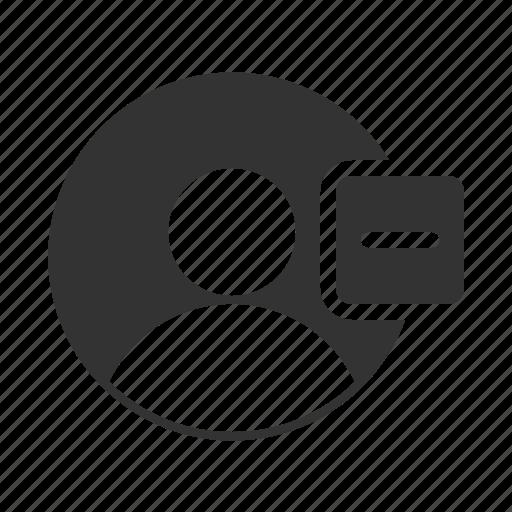 account, avatar, delete, profile, remove, user icon