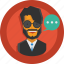 testimonial, business, user, character, person, speech, avatar, suit, team member, businessman, talk, man