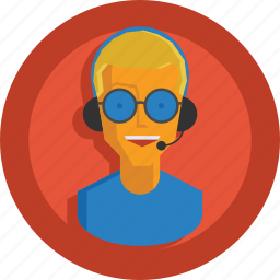 avatar, boy, character, customer support, man, people, person, support, team member, user icon