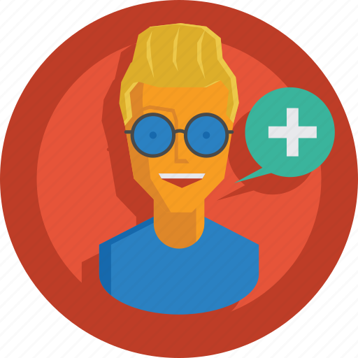 add, avatar, character, man, people, person, plus, team member, testimonial, user icon