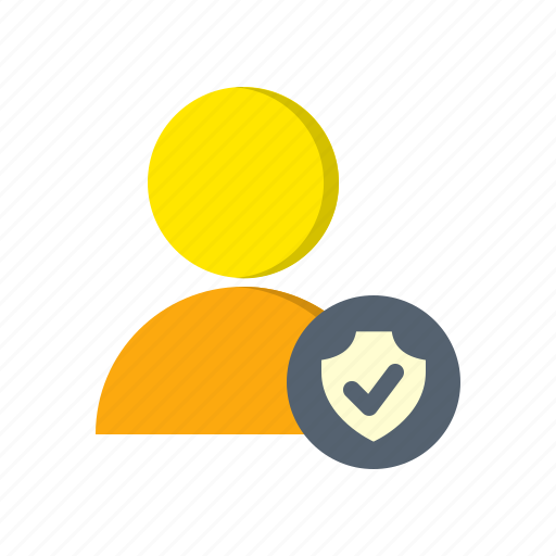 account, avatar, profile, protection, secure, shield, user icon