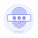 biometric, fingerprint, identification, passcode, password, user icon