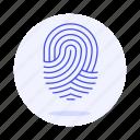 biometric, fingerprint, id, identification, scanner, sensor, touch, user icon