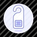 door, doorhanger, info, private, protection, security, tag, user