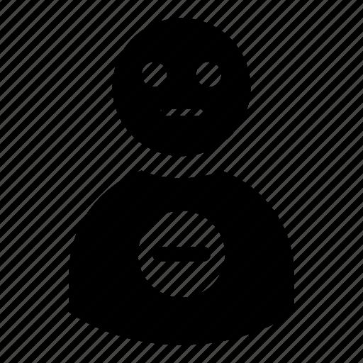 account, avatar, block, delete, human, profile, remove, user, users icon