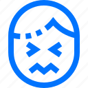 confused, emoji, emoticon, emotion, face, feeling, users icon