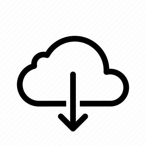 cloud, computing, data, down, download, server, storage icon