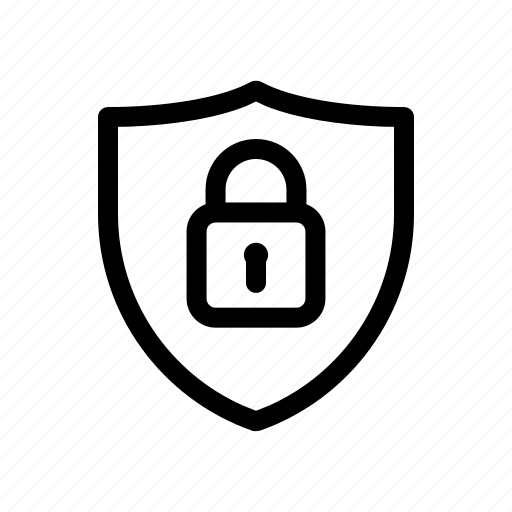 lock, locked, password, protect, safety, security, shield icon