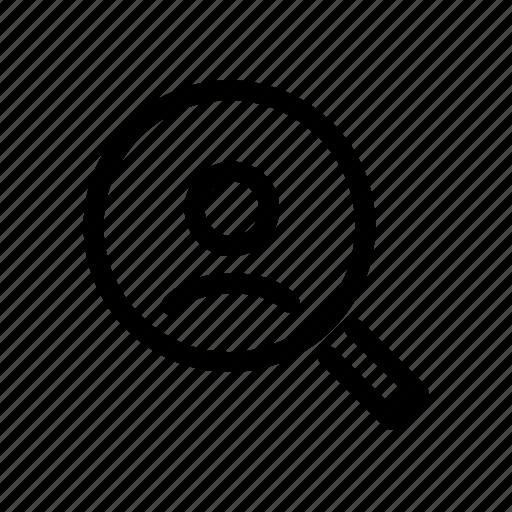 account, check, find, magnifier, profile, search, user icon