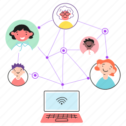 relation, network, family, social, media, connections, users, links, laptop, friends, nodes