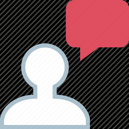 avatar, chat, talk icon